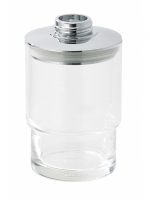 Récipient pour distributeur de savon clair, LINDO inclus couvercle par distributeur de savon avec joint sans pompe