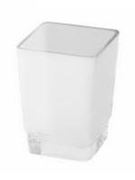 Verre et distributeur de savon opaque SIMARA