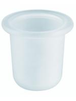 Mattglas zu WC-Bürstengarnitur RIVA und NANDRO, inkl. Kunststoffeinlage