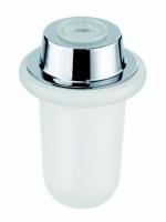 Seifenspendergehäuse, matt, ohne Pumpe, RIVA inkl. Kunststoffeinlage und Gummiring