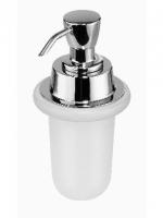 Récipient pour distributeurs de savon,  clair pompe incluse, RIVA rondell en plastique, et rondel en caoutchouc inclus