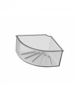 Kunststoffkorb matt zu Duschkorb Eckmodell CHIC14 Innendimension 16 x 16 cm