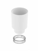 LIV Glas weiss zu WC-Bürstengarnitur, inkl. Kunststoffeinlage